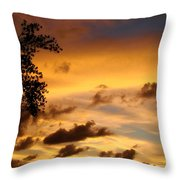 The Painting Of The Creator Throw Pillow