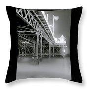 The Palace Pier Throw Pillow