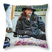 The Palm Reader Of New Orleans Throw Pillow