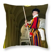The Papal Swiss Guard Throw Pillow