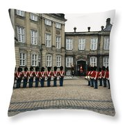 The Parading Of The Guards Throw Pillow