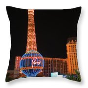 The Paris At Night Throw Pillow