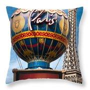 The Paris Throw Pillow