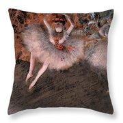 The Pas Battu Throw Pillow by Edgar Degas