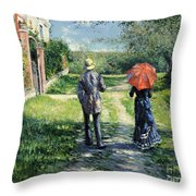 The Path Uphil Throw Pillow