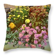 The Patio At Coffee O - Falmouth - Cape Cod - Massachusetts Throw Pillow