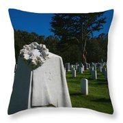 The Patriot And The Cypress Throw Pillow