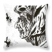 The Patriotic Ms. Beatrice Throw Pillow