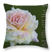 The Peace Rose Throw Pillow