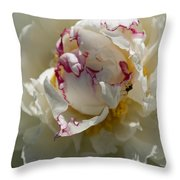 The Peony And The Ant Throw Pillow