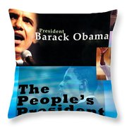 The People's President Throw Pillow