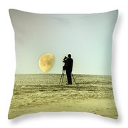 The Photographer Throw Pillow by Bill Cannon