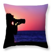 The Photographer Throw Pillow