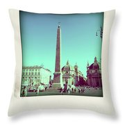 The Piazza Del Popolo. Rome Throw Pillow
