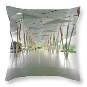 The Pick Up Point At Changi Airport In Singapore  Throw Pillow