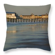 The Pier On Old Orchard Beach Throw Pillow