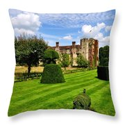 The Pig And Castle Throw Pillow