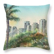 The Pike And Downtown Long Beach Throw Pillow