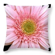 The Pink Flower Throw Pillow