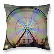 The Pinwheel Glow Throw Pillow