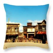 The Pioneer Hotel Old Tuscon Arizona Throw Pillow