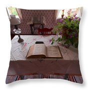 The Place Of The Bible In Kovero Throw Pillow