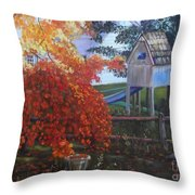 The Playhouse In Fall Throw Pillow