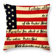 The Pledge Of Allegiance Throw Pillow