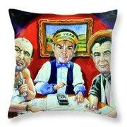 The Poker Game Throw Pillow