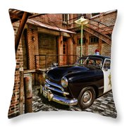 The Police Hideout Throw Pillow