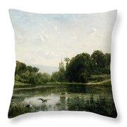 The Pond At Gylieu Throw Pillow