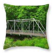 The Pony Bridge Throw Pillow