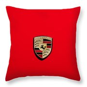 The Porsche Throw Pillow