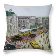 The Portsmouth Ohio Post Office On The Esplanade 1948 Throw Pillow