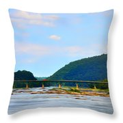 The Potomic River West Virginia Throw Pillow by Bill Cannon