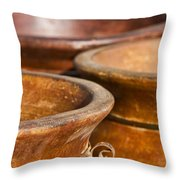 The Potters Terracotta Wares Throw Pillow