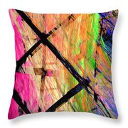 The Powers That Bind Us Panel Throw Pillow by Andee Design