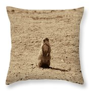 The Prairie Dog Throw Pillow