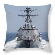 The Pre-commissioning Unit Guided Throw Pillow