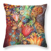 The Princesses Of Garden Throw Pillow