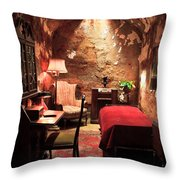 The Prison Cell Of Al Capone Throw Pillow