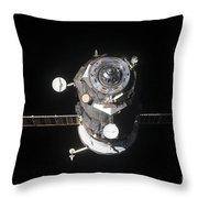 The Progress 46 Spacecraft Throw Pillow