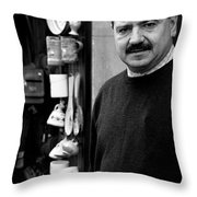 The Proprietor Throw Pillow