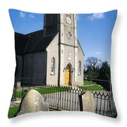 The Protestant Church, Delgany, Co Throw Pillow