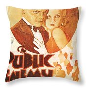 The Public Enemy Throw Pillow