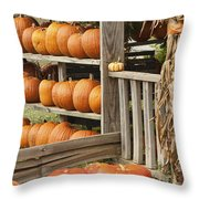 The Pumpkin Shack At Isom's Orchard Throw Pillow