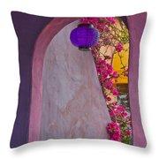 The Purple Lantern Throw Pillow