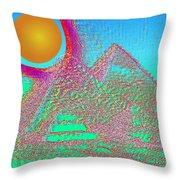 The Pyramids Throw Pillow