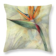 The Queen Of Paradise Throw Pillow