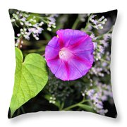 The Queen's Morning Glory Throw Pillow